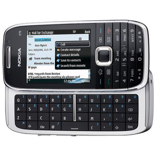 Nokia E75 hitam