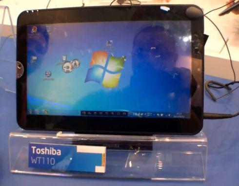 Toshiba WT110 Tablet Windows 7