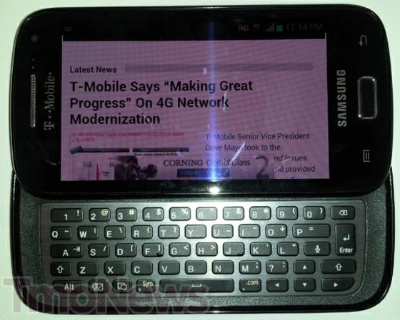 Samsung SGH-T699 Bocor, Smartphone Android ICS dengan Keyboard QWERTY