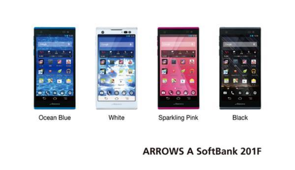 Fujitsu Arrows A 201F, Smartphone Quad Core Jelly Bean