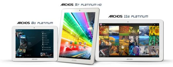 Archos 80 Platinum, Archos 97 Platinum dan Archos 116 Platinum
