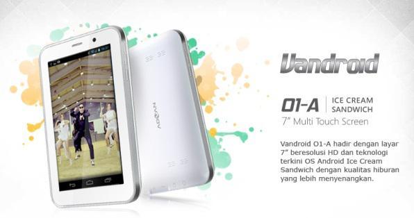 tablet CDMA perdana terbaru bermerek Advan Vandroid 01A dengan