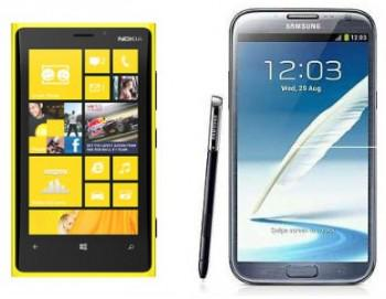 samsung galaxy note 2 vs nokia lumia 920