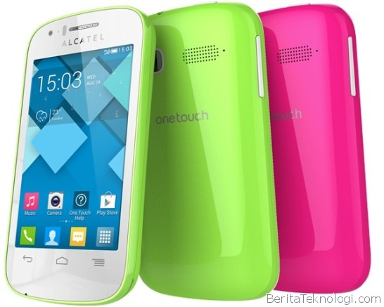 Alcatel One Touch Pop C1, Smartphone Dual-Core Jelly Bean 3.5 Inci Dengan Kamera 2MP