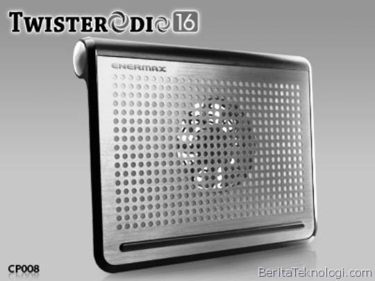 Enermax Twisterodio 16 CP008, Cooling Pad Ergonomis Dengan Sound Sistem Canggih Untuk Laptop Berlayar Hingga 16 Inci