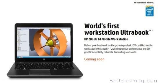 HP ZBook 14 Sebagai Ultrabook Workstation Pertama Di Dunia Untuk Kalangan Profesional