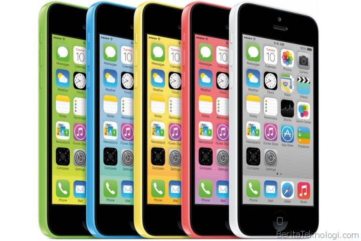 iPhone 5C dengan 5 pilihan warna