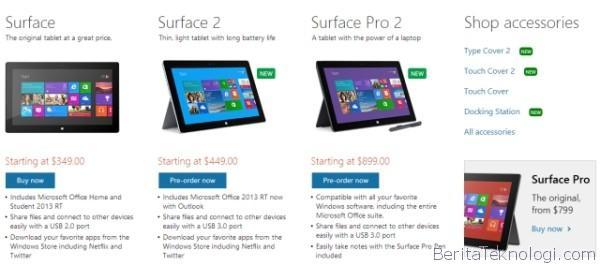 Microsoft Masih Pasarkan Tablet Surface RT Generasi Pertama, Dibanderol Seharga 349 USD