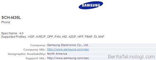 Infotek: Perangkat Misterius Samsung SCH-I435L Dapatkan Serifikasi Bluetooth