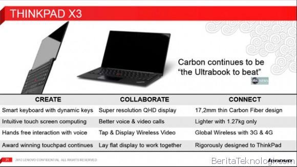 Infotek: Notebook Lenovo Thinkpad X4 Bocor di Internet dengan Prosesor Intel Haswell dan Layar QHD