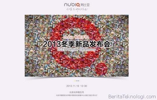 Infotek: ZTE Bakal Rilis Resmi Phablet Nubia Z5S Tanggal 19 November Mendatang Di Beijing