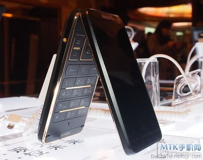 Infotek: Smartphone Android Flip Philips Xenium W9588 Mulai Dijual di Cina, dengan Banderol 9.9 Juta Rupiah
