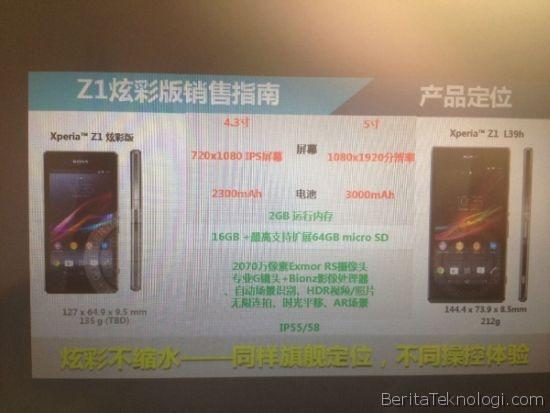 Infotek: Smartphone Android Sony Xperia Z1S akan Diluncurkan pada 3 Januari 2014