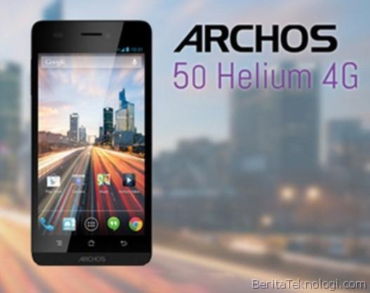 Infotek: Archos 50 Helium 4G, Phablet Quad-Core 5 Inci 4G LTE Upgradeable To Kitkat Seharga 249 USD