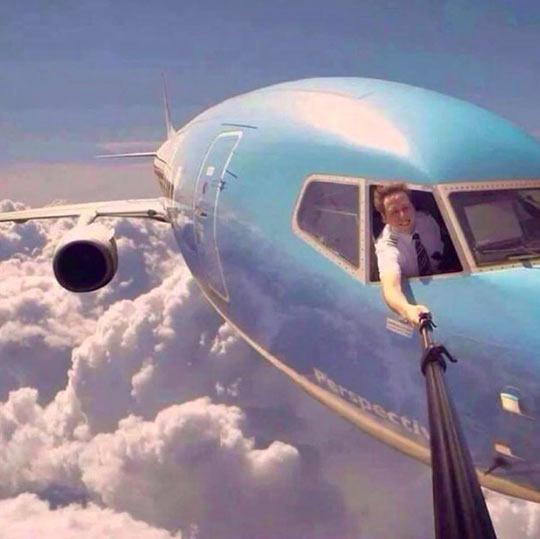 selfie plane