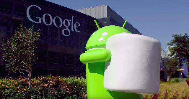Patung Android Marsmallow 6.0 di kantor pusat Google
