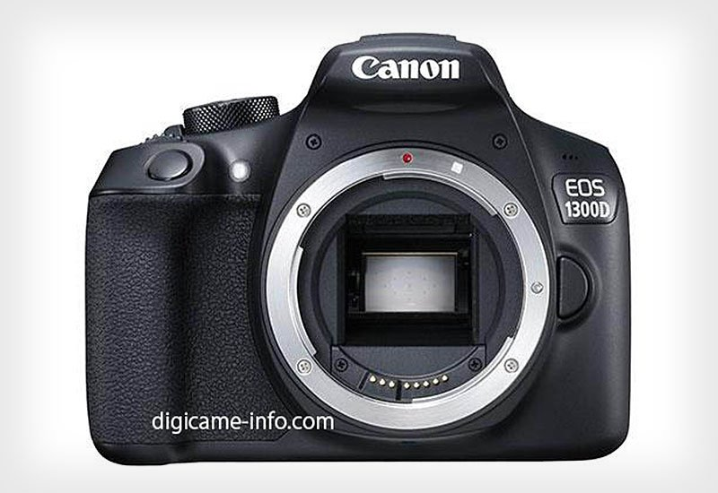 Canon 1300D alias Rebel T6 nampak depan (Sumber: Digicame-nfo)