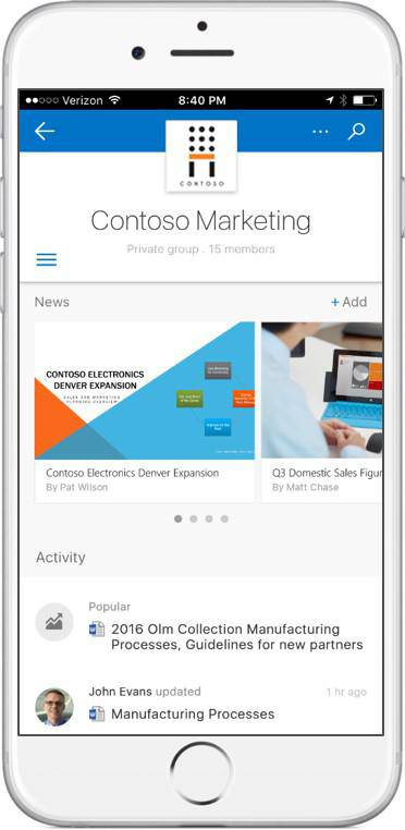 Sharepoint mobile