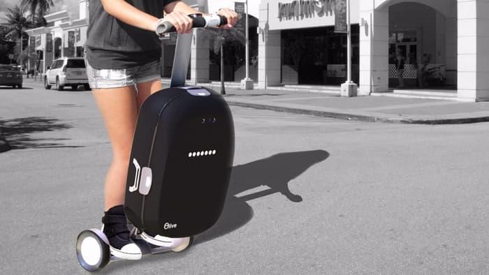 Robot koper olive yang bisa dinaiki seperti layaknya sebuah skuter