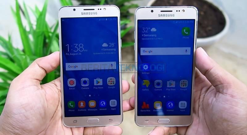Kiri: Samsung Galaxy J7 2016, Kanan: Samsung Galaxy J5 2016