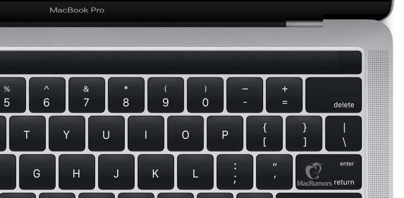 Tampilan panel sentuh Magic Toolbar saat tidak digunakan (Gambar: MacRumors)