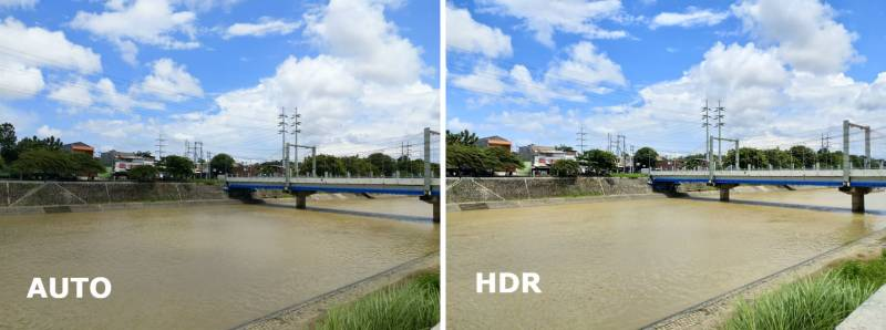 Perbandingan mode auto dan HDR