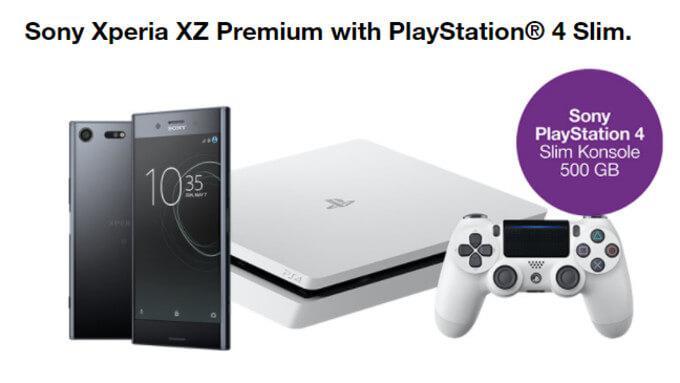 sony xperia xz premium preorder with PS4 slim free bonus