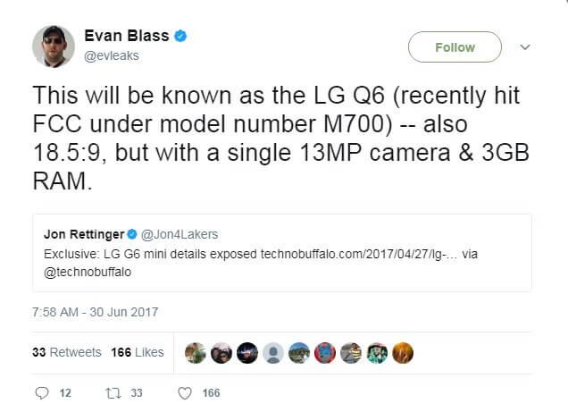 LG G6 Mini Evan Blass