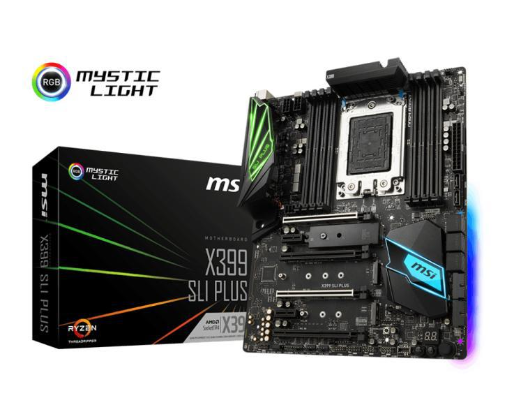 Motherboard MSI X399 SLI Plus Threadripper For Professionals